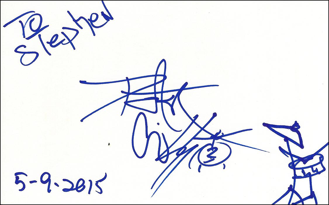 Peter Criss Index Card