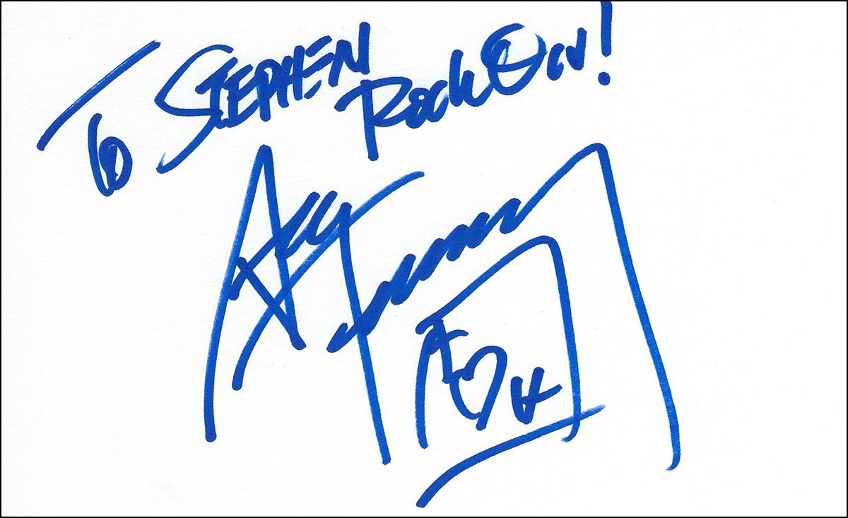 Ace Frehely - Index Card #1