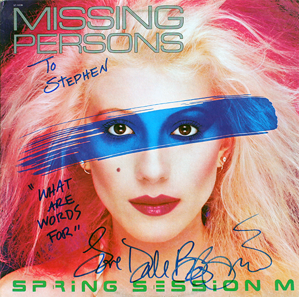 LP - Missing Persons - Dale Bozzio
