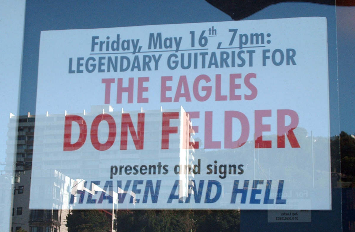 Photo - Don Felder Window Announcement