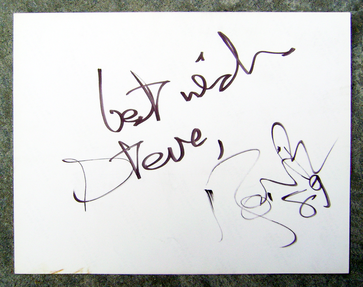 Signature - David Bowie