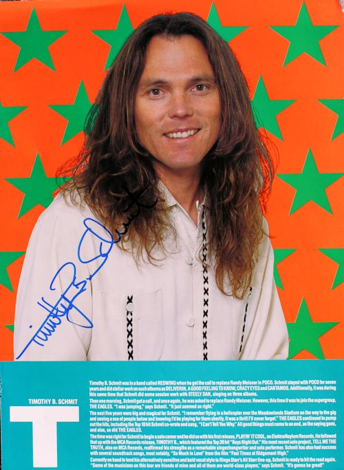 Timothy B Schmit - Tour Book