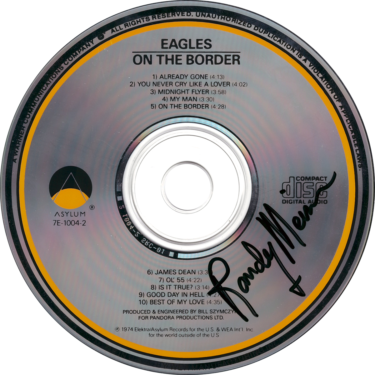 Randy Meisner CD - On The Border