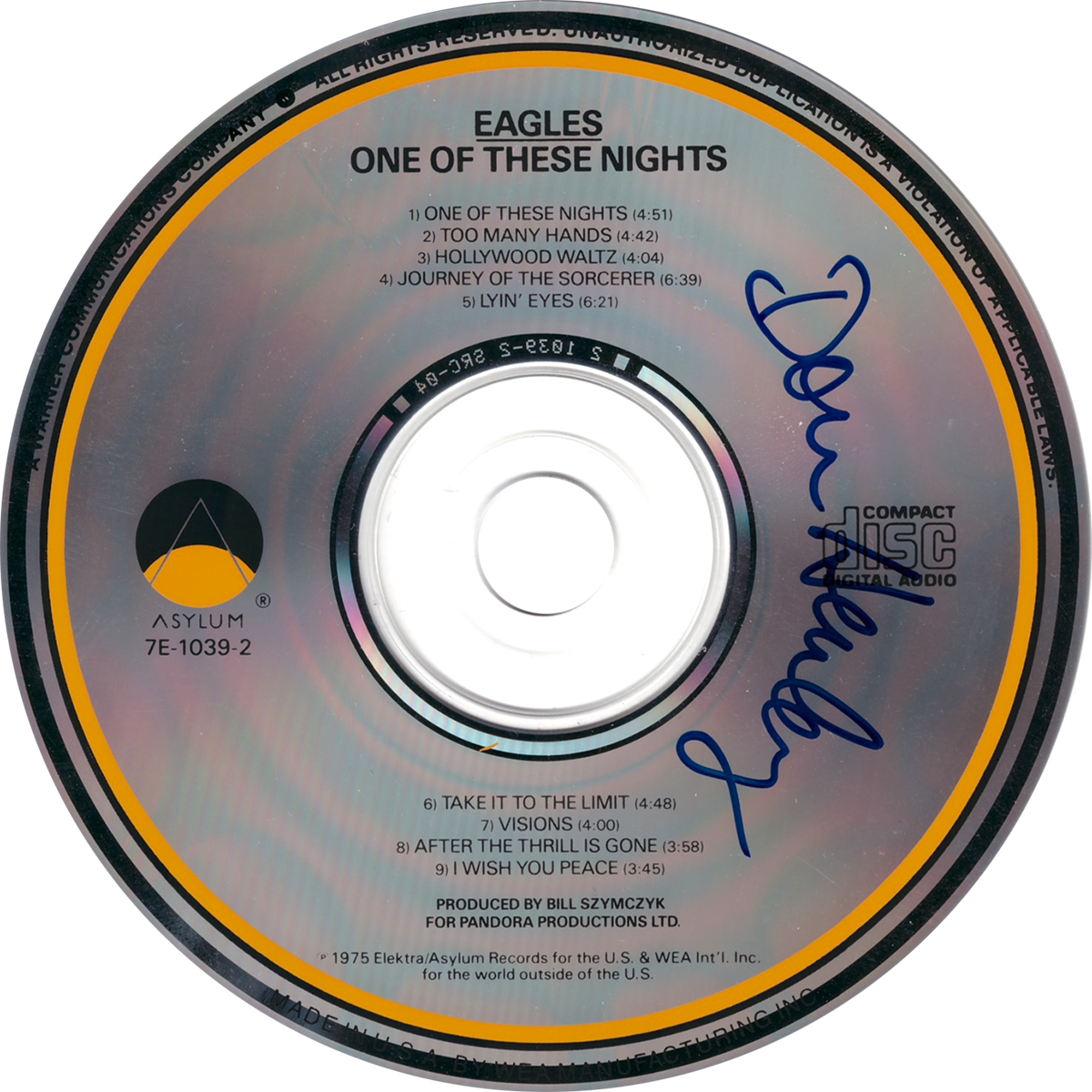 Don Henley CD - One of These Nights