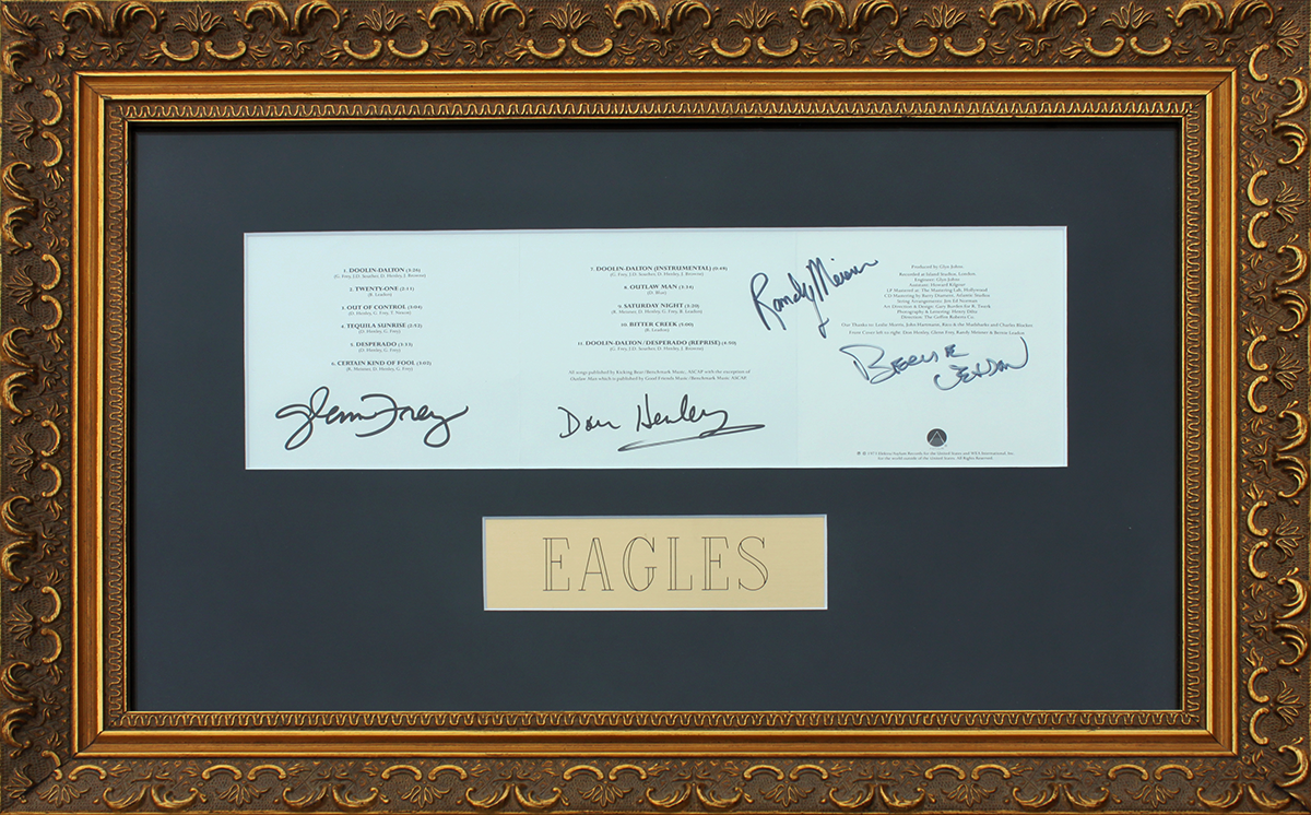 Eagles CD Sleeve Framed - Desperado