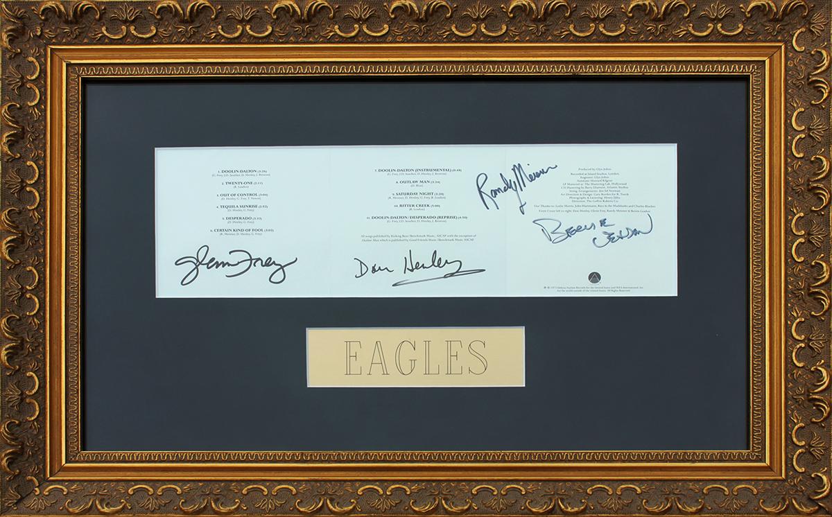 Eagles CD Sleeve Framed - Desperado