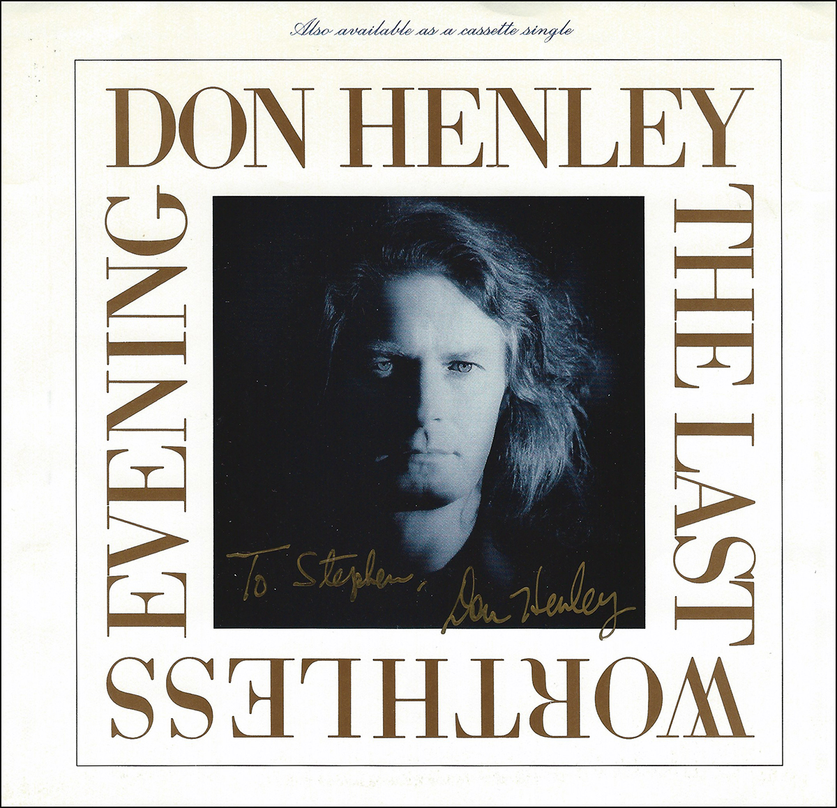 Don Henley 45rpm Sleeve - The Last Worthless Evening