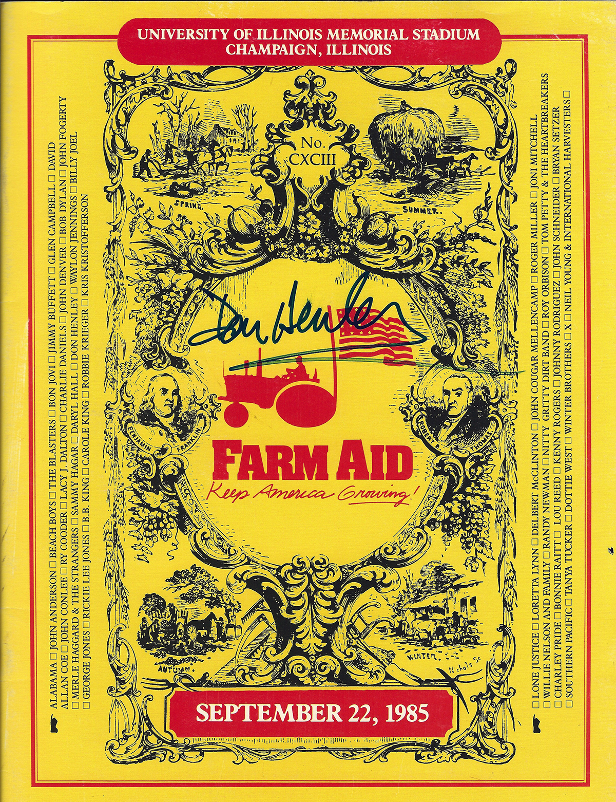 Don Henley - Farm Aid #1