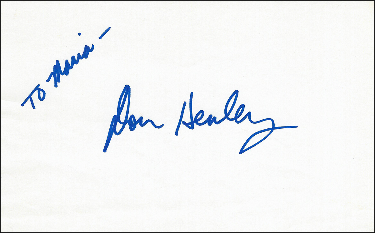 Don Henley - Index Card #1