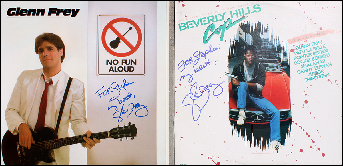 Glenn Frey LPs (2) - No Fun Allowed & Beverly Hills Cop