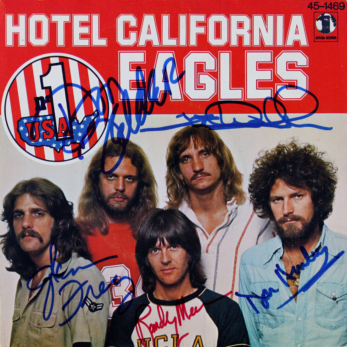 Eagles Spanish 45rpm sleeve - Hotel California