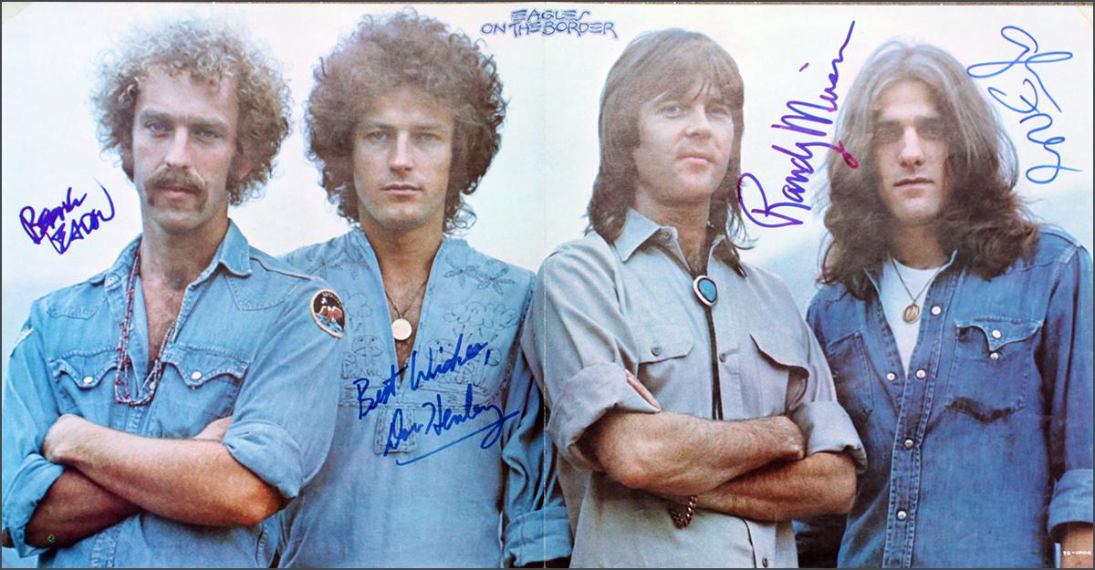 Eagles LP - On The Border Inner Sleeve