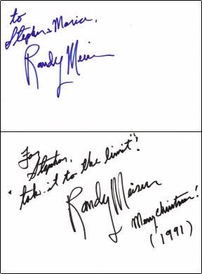 Randy Meisner - Index Card #1