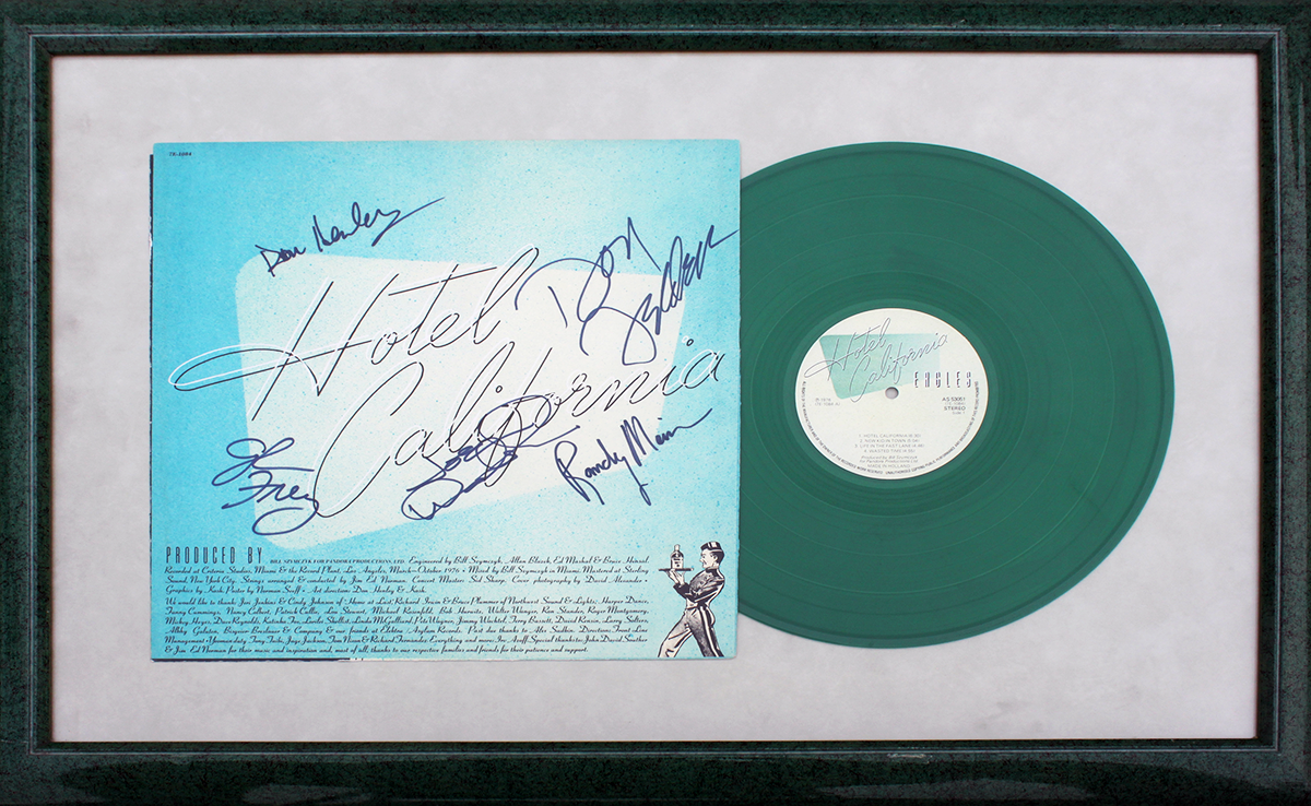 Eagles Framed LP (Dutch) - Hotel California