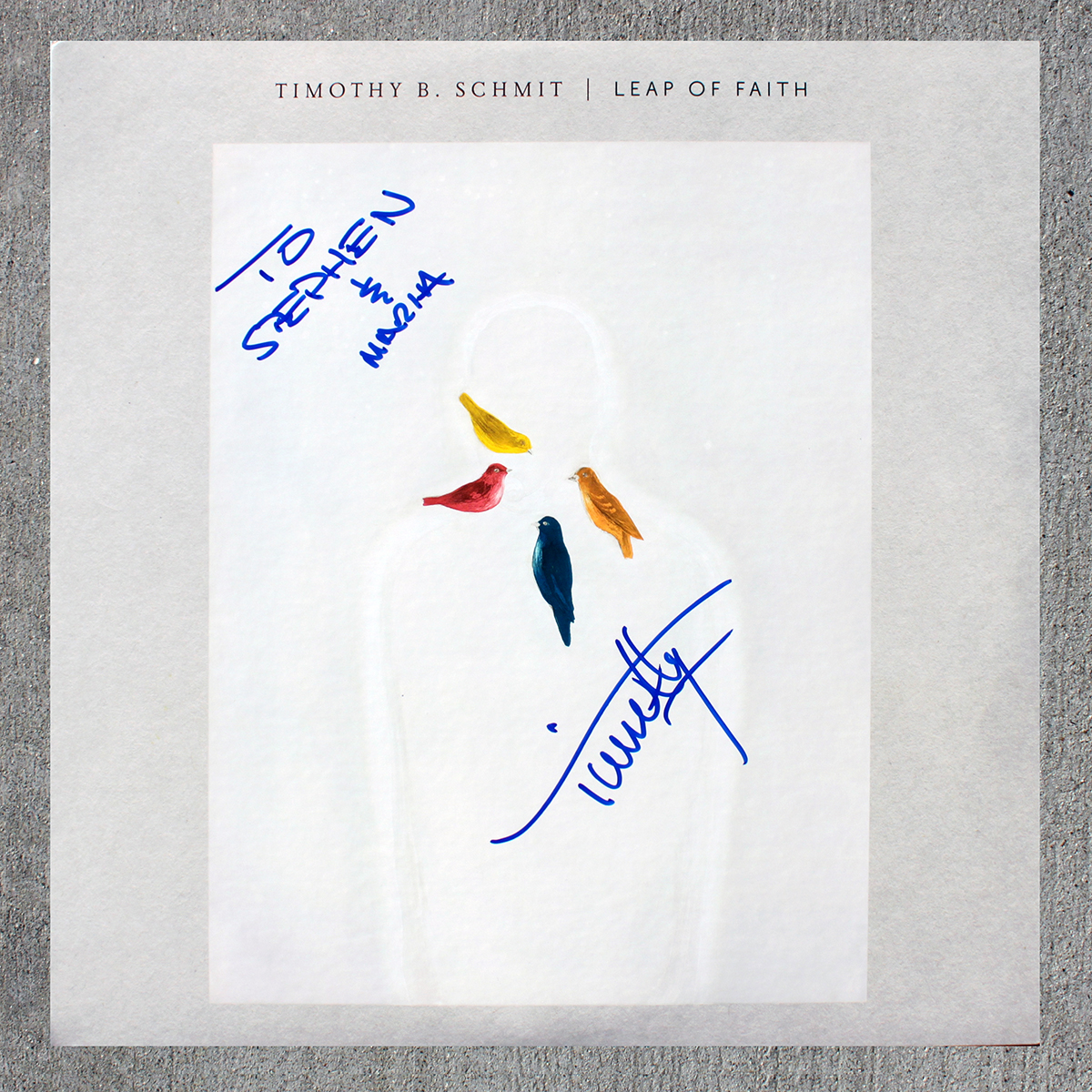 Timothy B Schmit LP - Leap of Faith