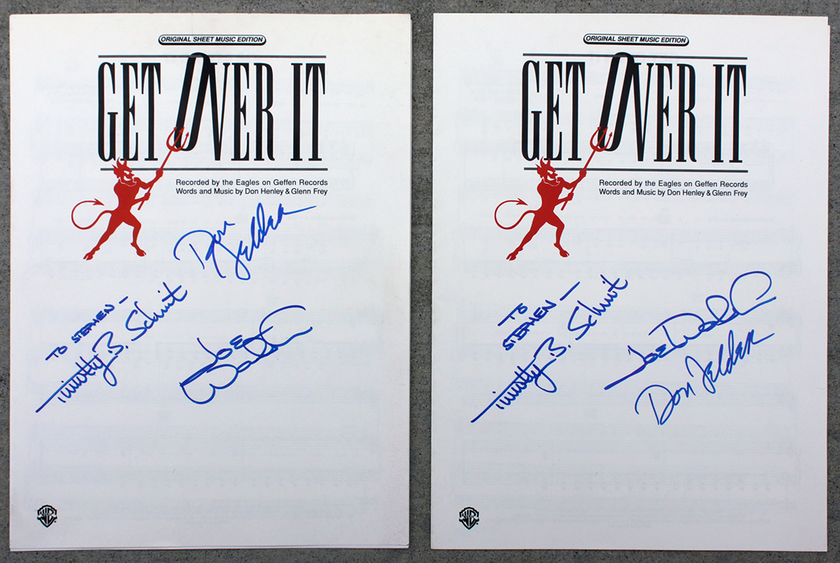 Eagles Dual Sheet Music - Get Over It