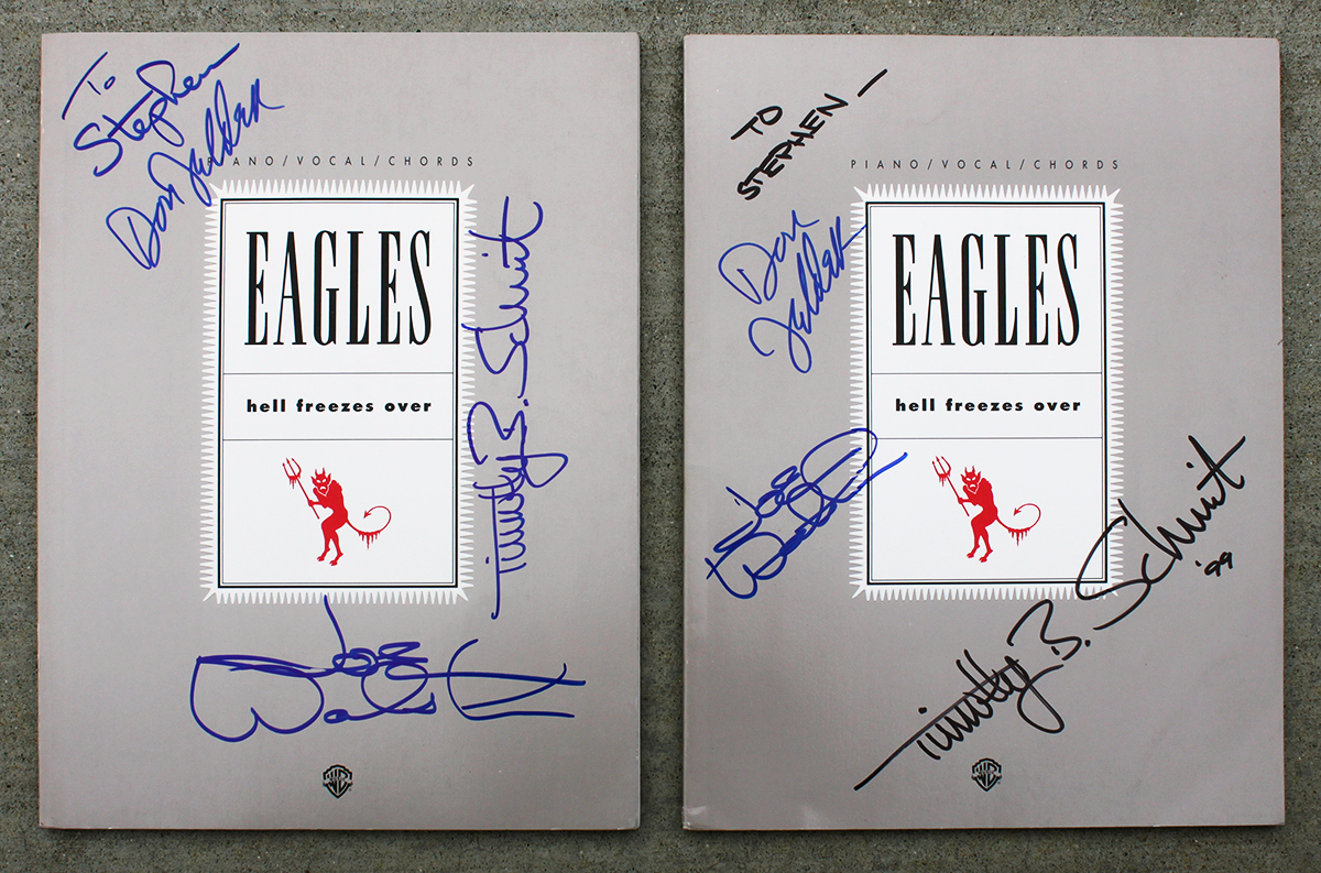 Eagles Music Books - Hell Freezes Over