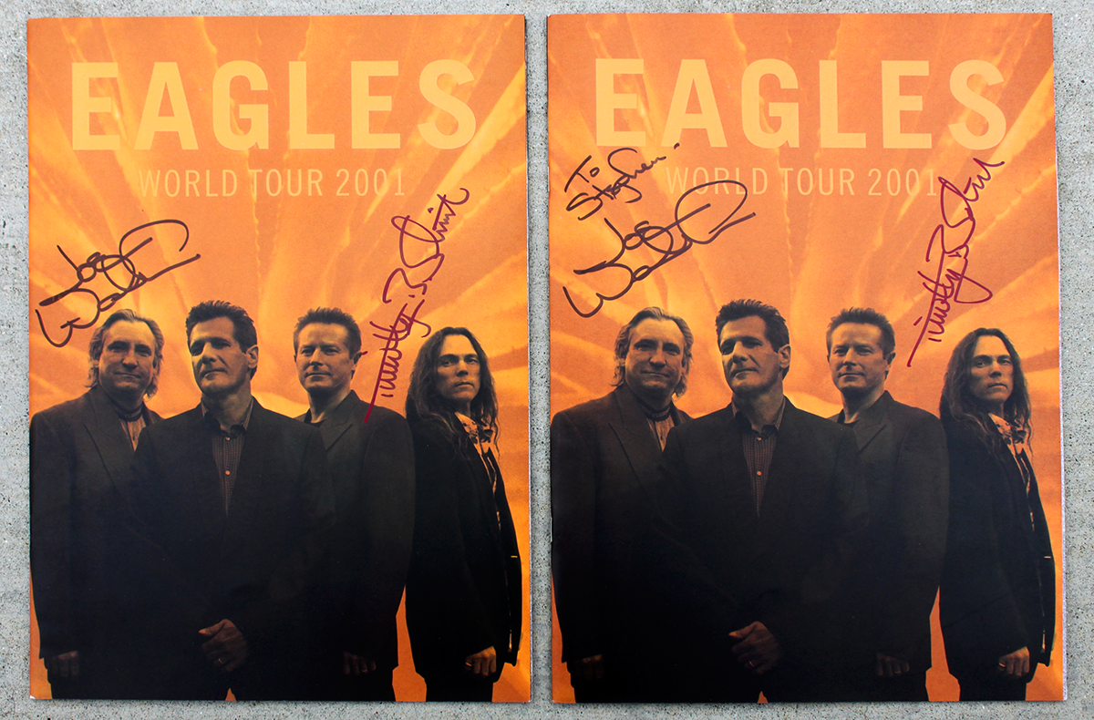 Eagles Dual Tour Books - World Tour 2001