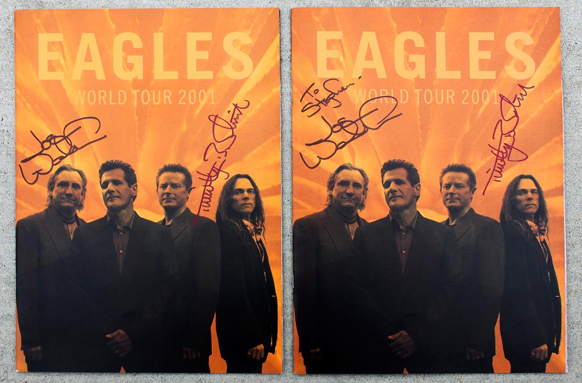 Eagles Dual Tour Books - World Tour 2001