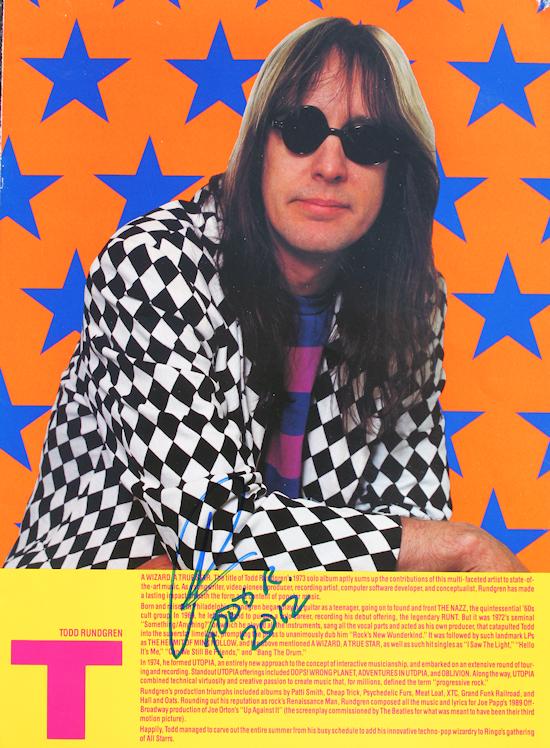 Todd Rundgren Tour Book page