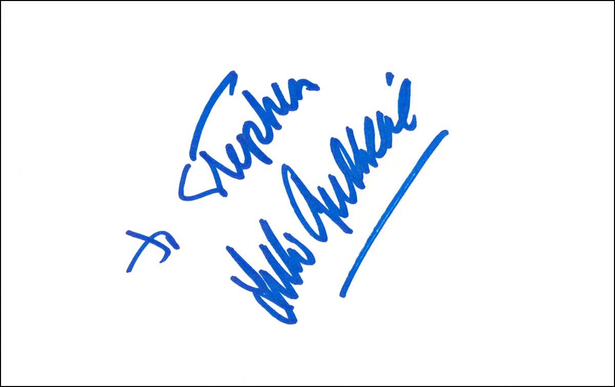 Arlo Guthrie Index Card #1
