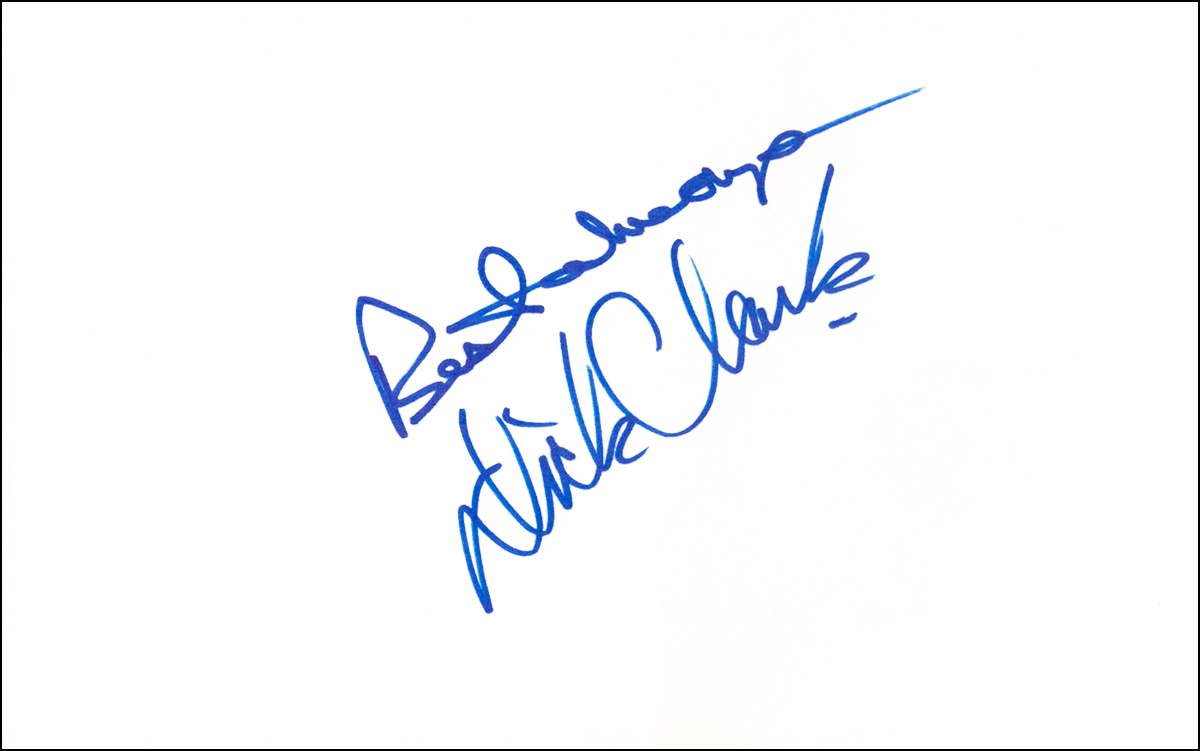 Dick Clark Index Card #1