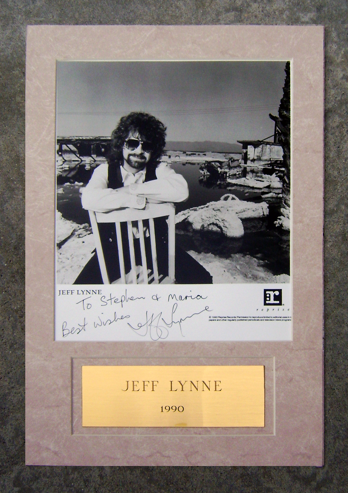 Photo - Framed - Jeff Lynne