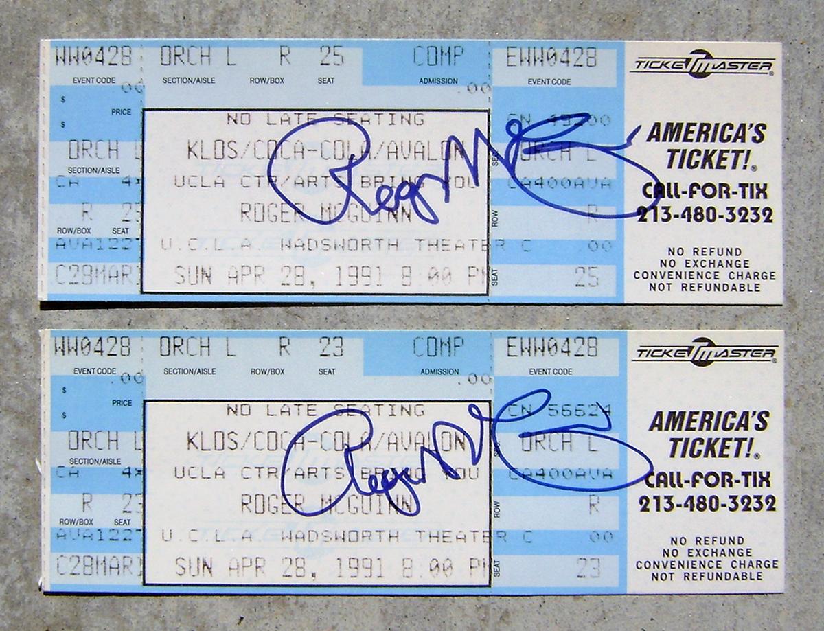Concert Tickets - Roger McGuinn