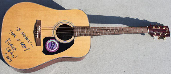 Bernie Leadon signed guitar