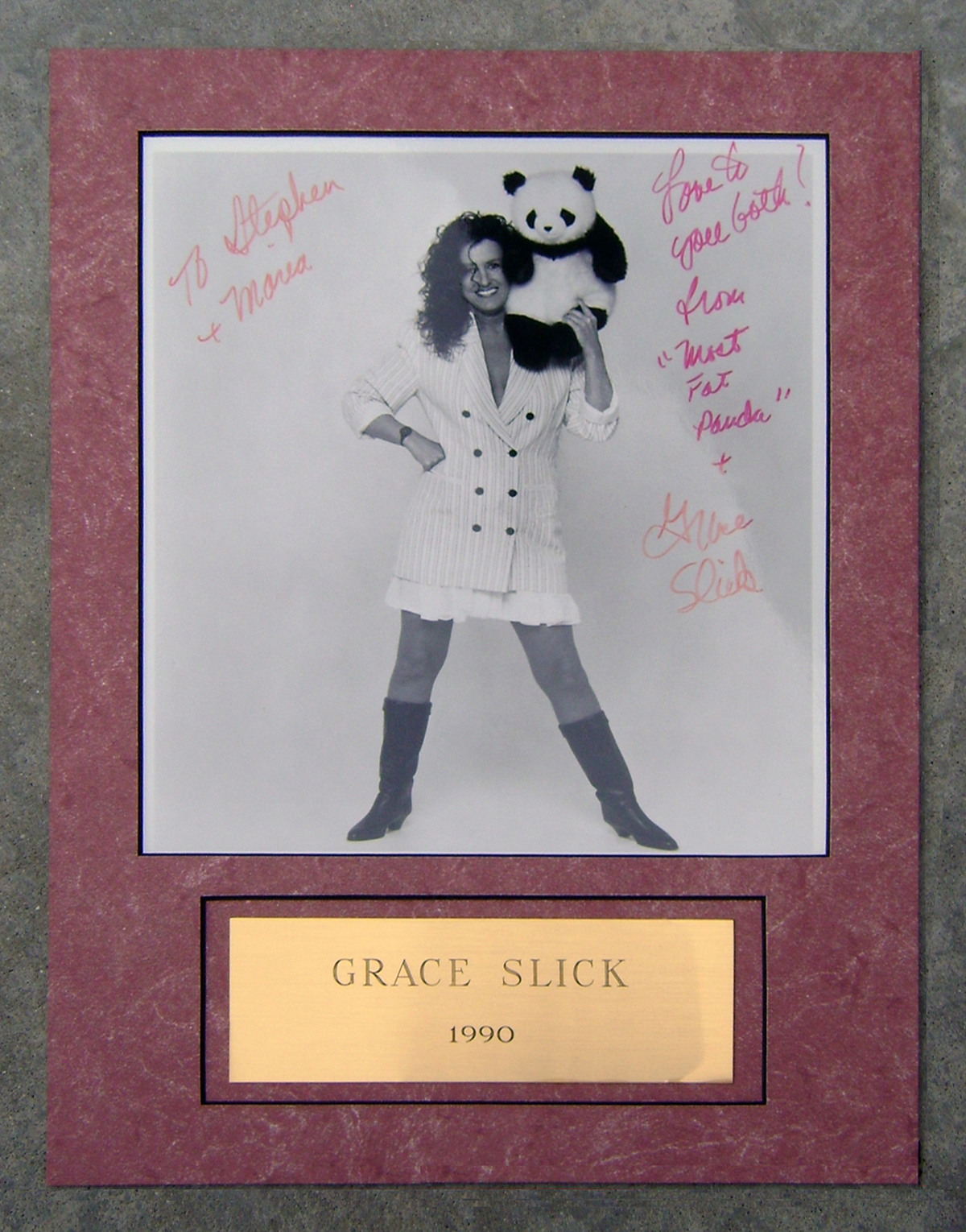 Photo - Framed - Grace Slick