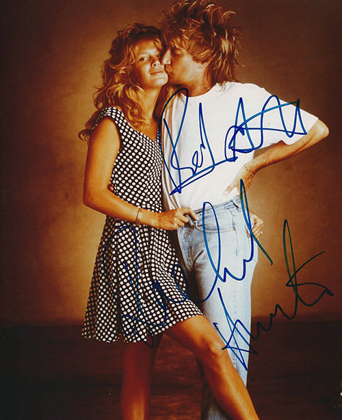Photo - Rod Stewart and Rachel Hunter #2