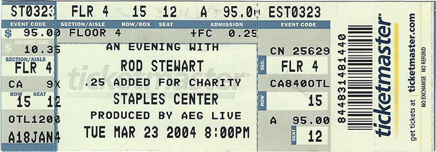 Concert Ticket - Rod Stewart #2