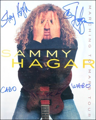 Tourbook - Sammy Hagar - Marching to Mars #1