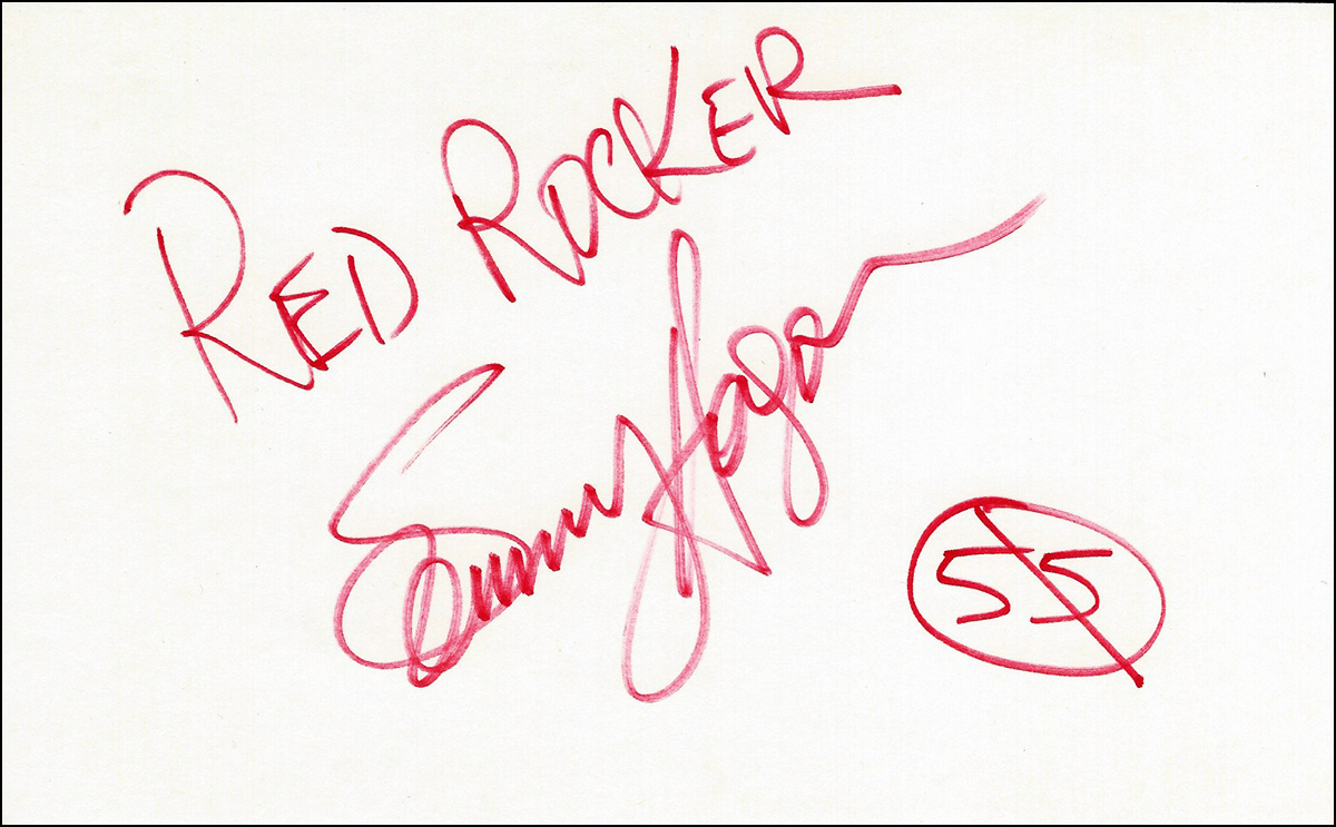 Index Card - Sammy Hagar #2
