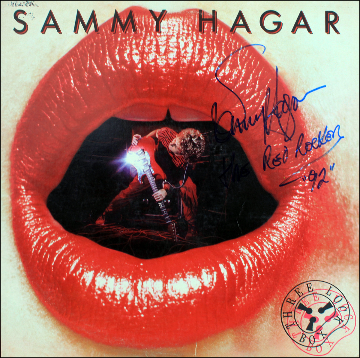 LP - Sammy Hagar - Three Box Lock