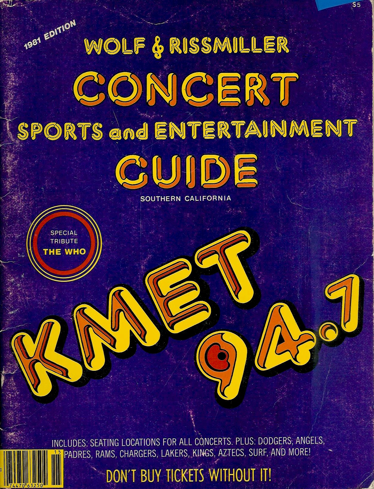 KMET Concert Guide #1