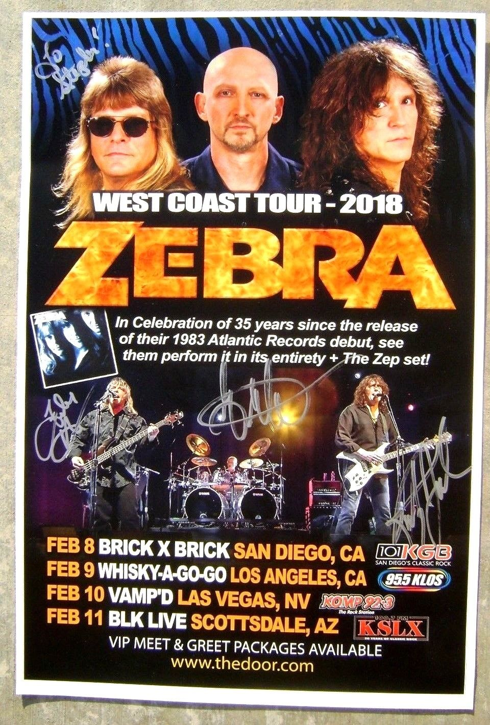 Posters rockandrollcollection the guys from the band zebra randy jackson felix hanemann and guy gelso at the whiskey in west hollywood for the meet and greet signing of my albums and kristyandbryce Choice Image