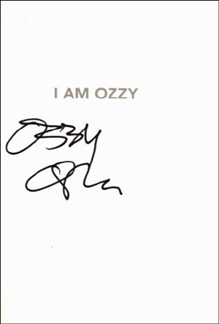 Ozzy Osbourne Book - I Am Ozzy #1b
