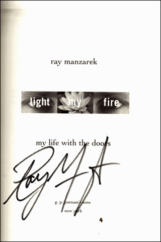 Ray Manzarek Book - Light My Fire #1b