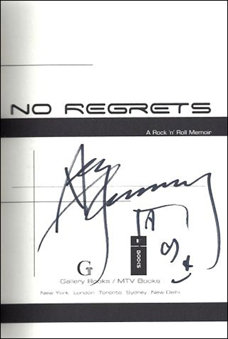Ace Frehley Book - No Regrets #1b