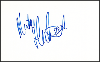 Mick Fleetwood Signed Index Card #1