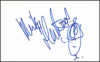 Mick Fleetwood Signed Index Card #2