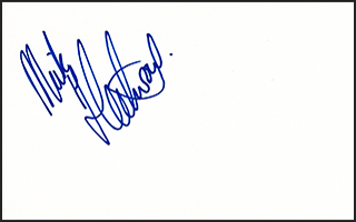 Mick Fleetwood Signed Index Card #3
