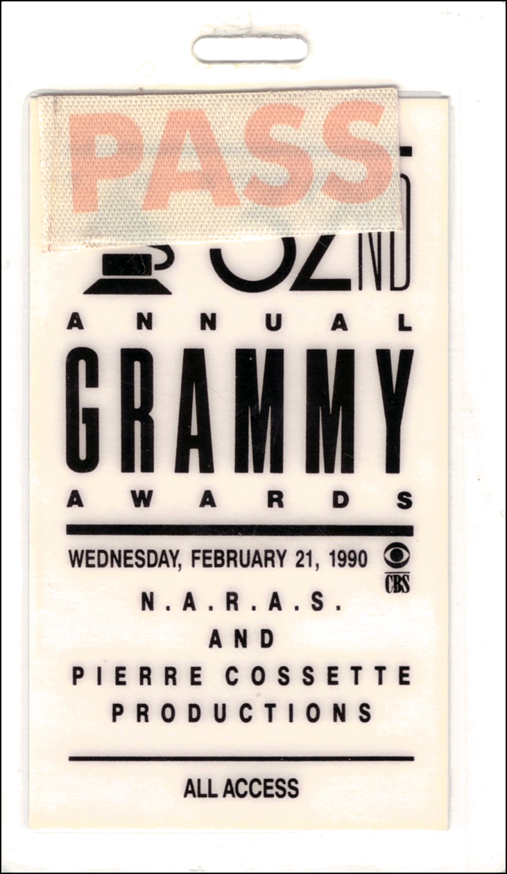 Back Stage Pass - Grammys