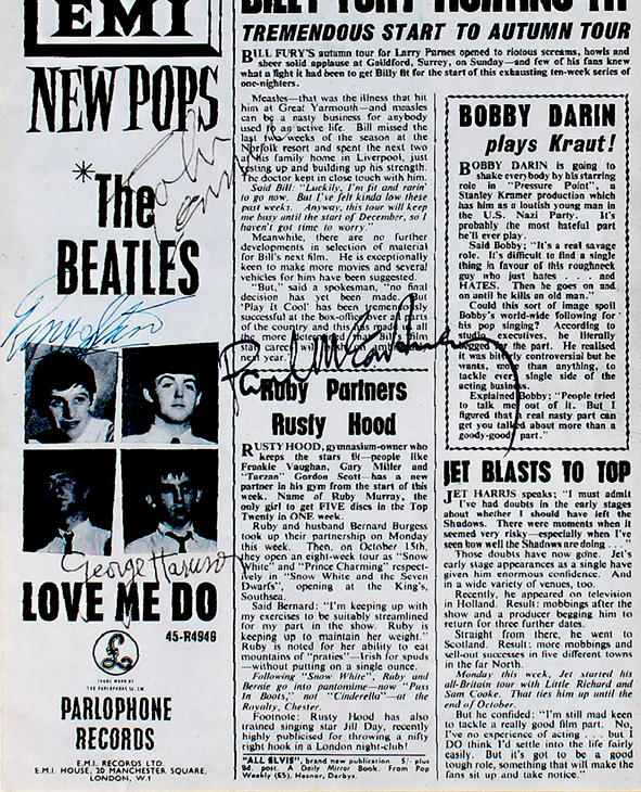 Beatles Framed Article