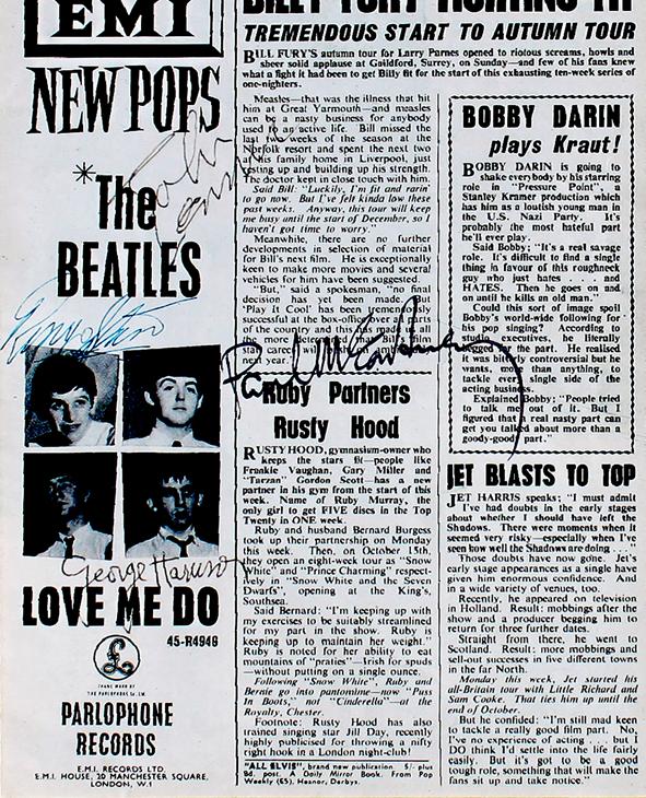 Beatles Framed Article