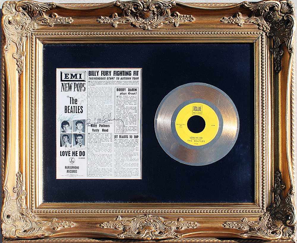 Framed Article and 45rpm - The Beatles
