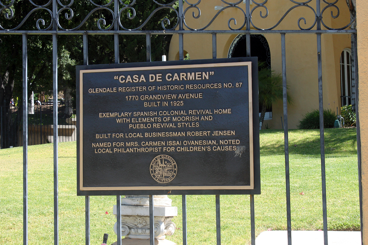 Casa de Carmen Plaque