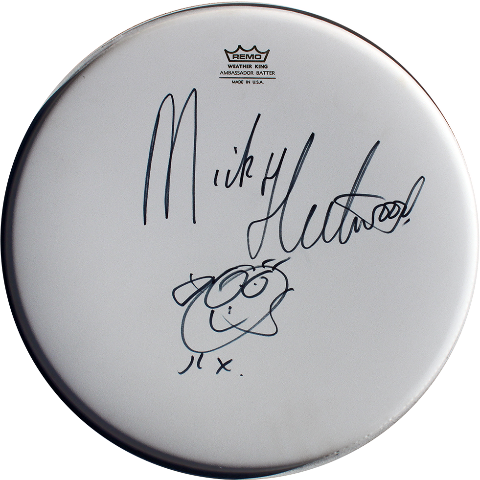 Mick Fleetwood Signed Drumhead