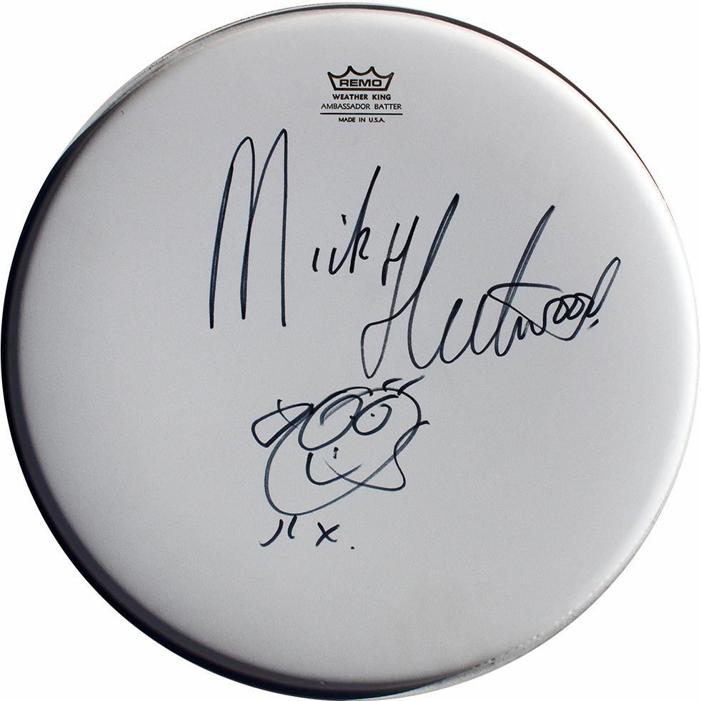 Mick Fleetwood Signed Drumhead